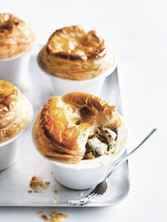 Chicken And Chive Pot Pies | Donna Hay