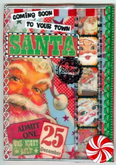 I made this for a Kitschy Christmas ATC swap.