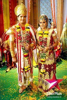 Naitik and Akshara dressed as Ram and Sita for the play. http://starplus.startv.in/