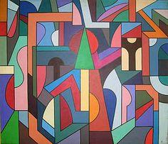 Jeremy Barrett Untitled, 1972<br> Acrylic on Canvas <br> 83.5 x 96.5cm