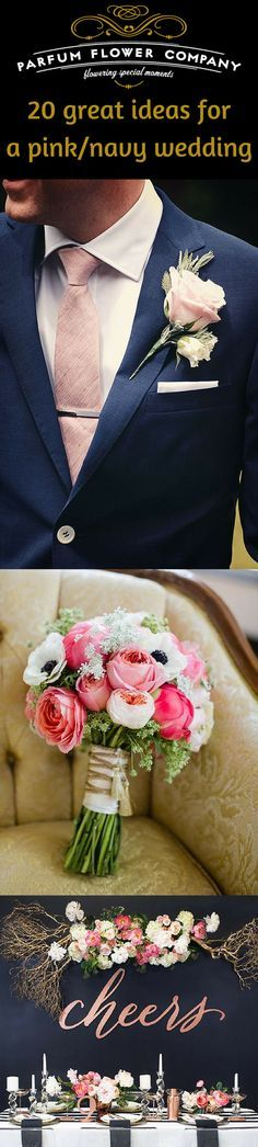 The wedding season has started. And new season means new trends. But there are so many of them! One we really love in particular is the pink/navy wedding color trend. This color combination absolutely intertwines the bride and groom aspect of the wedding. We see a lot of combinations of deep dark navy with light pink shades, but also blush and coral colors will make an unforgettable impression. Want to get some inspiration for this season? Read the full article!