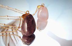 Pink Pendants, Stone Pendants, Gold Pendant, Dainty Earrings, Pearl Earrings, Purple Quartz, Hanging Earrings, Steel Chain, Necklace Lengths