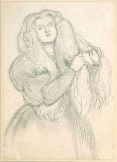 Annie Miller (sketch and study) - 1877 - Dante Gabriel Rossetti
