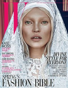 Kate Moss on the cover of W Magazine (March 2012). Ph. Steven Klein
