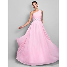 Really like this one?   A-line One Shoulder Floor-length Chiffon Evening/Prom Dress – USD $ 98.99