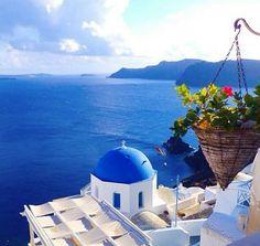 Santorini's Blue.