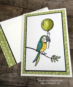 Karen's Stampin' Habit!: Bird Banter Birthday Note Card