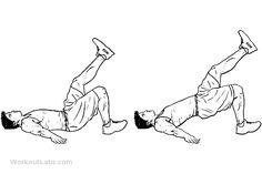 Back Workout Men, Hip Workout, Workout Guide, Single Leg Hip Raise, Single Leg Glute Bridge, Best Workout Routine, Bosu Ball, Easy Workouts, Lifestyle