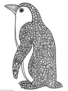 Penguin Doodle Coloring Pages - 1+1+1=1