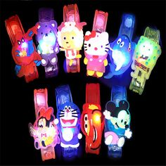 1pcs Hot Creative cartoon watch Boys girls flash wrist band glow luminous bracelets children's day/Birthday party gifts toys #>=#>=#>=#>=#> Click on the pin to check out discount price, color, size, shipping, etc. Save and like it!