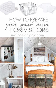 great tips to prep your guest room to make your guests feel right at home via maisondepax.com #guestroom #overnightguests #holidays