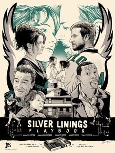 Silver Linings Playbook / Happiness Therapy - by Joshua Budich Oscar 2013, Oscar Best Picture, Best Picture Nominees, Cool Posters, Film Posters, Graphic Posters, Great Films, Good Movies, Romantic Movies