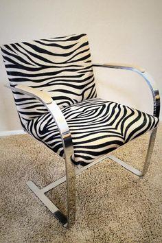 Hip Zebra Print Armchair