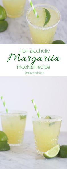 Margarita Mocktail Recipe - Drink Recipes - Cocktails Margarita Mocktail Recipe, Non Alcoholic Margarita, Margarita Punch, Alcoholic Drinks, Cocktails, Fruit Drinks, Yummy Drinks, Yummy Food, Party Punch Recipes