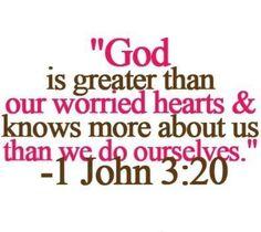 1 John 3:20 // #scriptures
