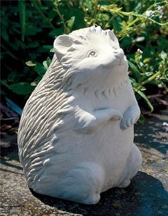 Hazel Hedgehog -- Carruth Studio: Waterville, OH Pottery Sculpture, Pottery Art, Sculpture Art, Garden Sculptures, Garden Studio, Garden Art, Hand Cast, It Cast, Pottery Animals