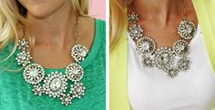 Designer Inspired Diamond Darling Bib! FALL MUST HAVE!   Jane ... I love this piece!  especially today as it is marked down(11/19/2013)  to $21.00 ... Santa - where are you?