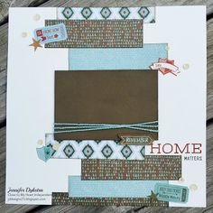 jd designs - CTMH Jackson scrapbook layout