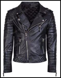 New Style Lambskin Black Leather Jacket Biker Motorcycle Jackets For Men Q 09 Lambskin Leather Jacket, Biker Leather, Leather Men, Leather Jackets, Real Leather, Black Leather, Quilted Leather, Sheep Leather, Soft Leather