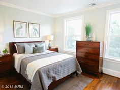 High Resolution Bedroom Staging