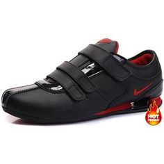 ... Glitter Black www.asneakers4u.com Mens Nike Shox R3 Velcro Black Red I  ... d642f2cf4e