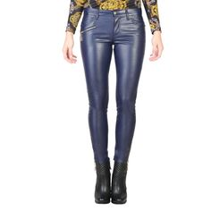 Versace Jeans Women Trousers Blue #womentrousers