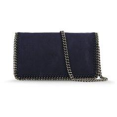 Stella McCartney Navy Falabella Cross Body Bag worn by Crown Princess Victoria of Sweden