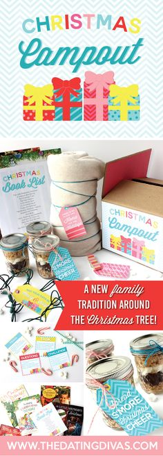 A family Christmas Campout is a great way to make memories this Christmas season. Our annual campout under the Christmas tree is one of our favorite family traditions! FREE PRINTABLES! www.TheDatingDivas.com