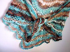 háčkovaný šátek s odkazem na návod
