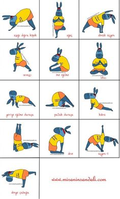 yoga for children, love how I just found this and it's in Turkish lol: