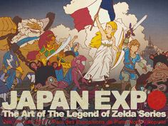 New Zelda art at Japan Expo 2017 apes famous French Revolution painting | Nintendo Wire