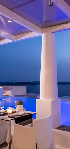 Anthos Restaurant at Kirini Suites & Spa in Santorini