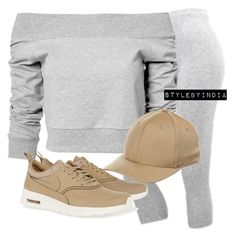 Untitled #1605 by stylebyindia on Polyvore featuring polyvore fashion style Estradeur NIKE Flexfit clothing