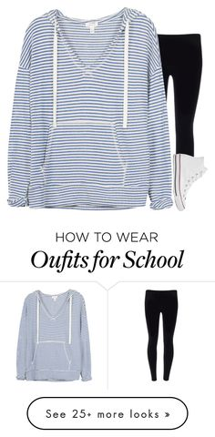 """""""School"""" by sassy-preppy on Polyvore featuring Soft Joie and Converse"""