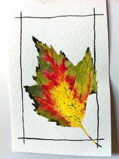 Watercolor (leaf art watercolor)