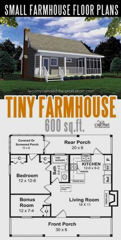 Small farmhouse plans for building a home of your dreams &; Craft-Mart Small farmhouse plans for building a home of your dreams &; Craft-Mart Christina Aksit christinaaksit Traumhaus Designing and building a […] Homes Cottage floor plans Tiny House Cabin, Tiny House Plans, Tiny House Design, Tiny Home Floor Plans, Small House Plans Under 1000 Sq Ft, Tiny Cabin Plans, Small Home Plans, Small House Layout, Guest House Plans
