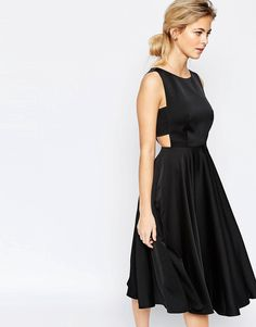 Image 1 of Ted Baker Cut out full skirt midi dress