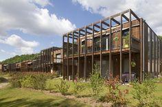 Maison de l'étang – Barres-Coquet Architectes Coquet, Exterior, House, Cabins, Architects, Band, Homes, Home, Outdoor Rooms
