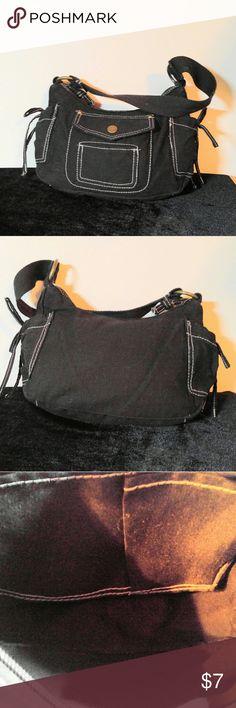 Cute Little Black Cloth Purse- Like New Black Cloth Purse- 11 X 7 with a 6 in drop Bags