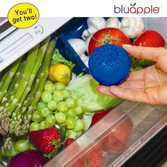 Bluapple 2-pack - Freshness extender - Absorbs ethylene gas - Keeps produce fresher longer BluApple http://www.amazon.com/dp/B005W6DRNY/ref=cm_sw_r_pi_dp_RQCvwb1AK180Z