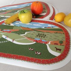 Country Dell Vinyl Placemats by TychoAndMarie on Etsy