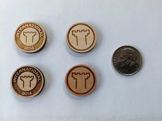 International convention gifts wood lapel or by BabiesFirstBling