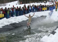 pond skimming at Sunday River, Loon and Vail!
