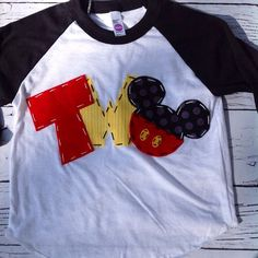 Mickey mouse birthday shirt two 2nd girl boy t by CodyandKait