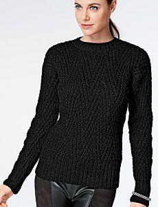 Пуловер с круглым вырезом горловины (ж) 996 Creations 2014/2015 Bergere de France №4467