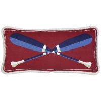 Crossed Paddles Canvas Pillow