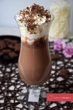 Gorąca czekolada Sugar Free Desserts, Dessert Drinks, Frappe, Hot Chocolate, Sweet Recipes, Good Food, Food And Drink, Gelato, Tasty