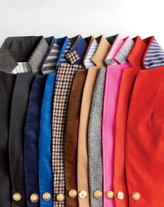 What we do at J.Crew: beautifully made blazers. 1993: Our very first blazer appeared in the autumn collection. Today: We kept all the good stuff (great fit, Italian fabrics) and added a lot more styles and details.