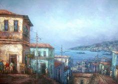 pinturas chilenas de valparaiso - Buscar con Google