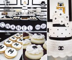 Black and white Chanel Party